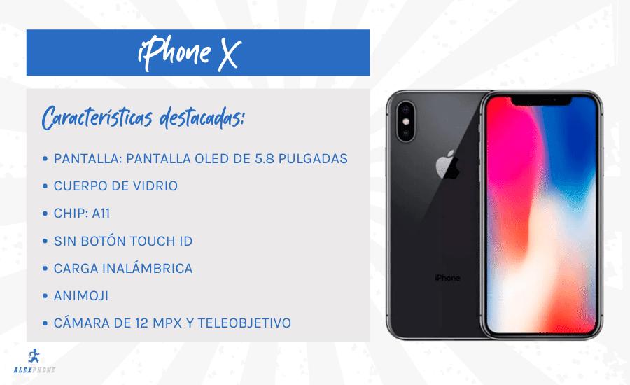 caracteristicas destacadas del iphone x reacondicionado