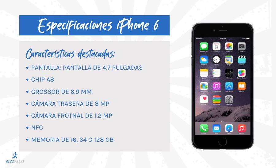 caracteristicas principales del iphone 6 barato