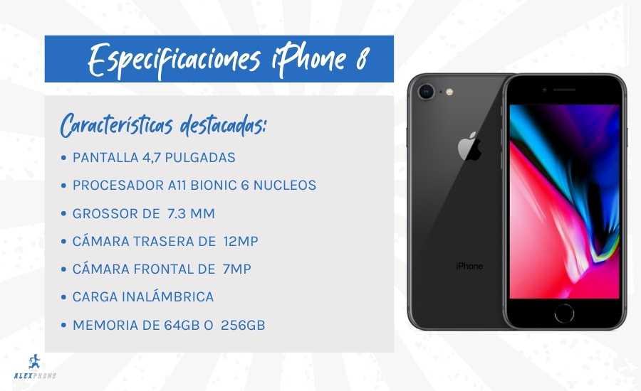 espeficicaciones iphone 8 reacondicionado