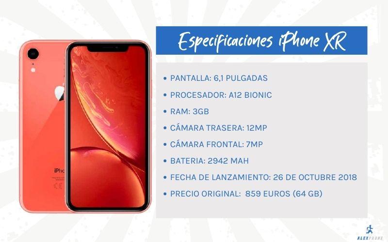 caracteristicas principales del iphone XR reacondicionado barato