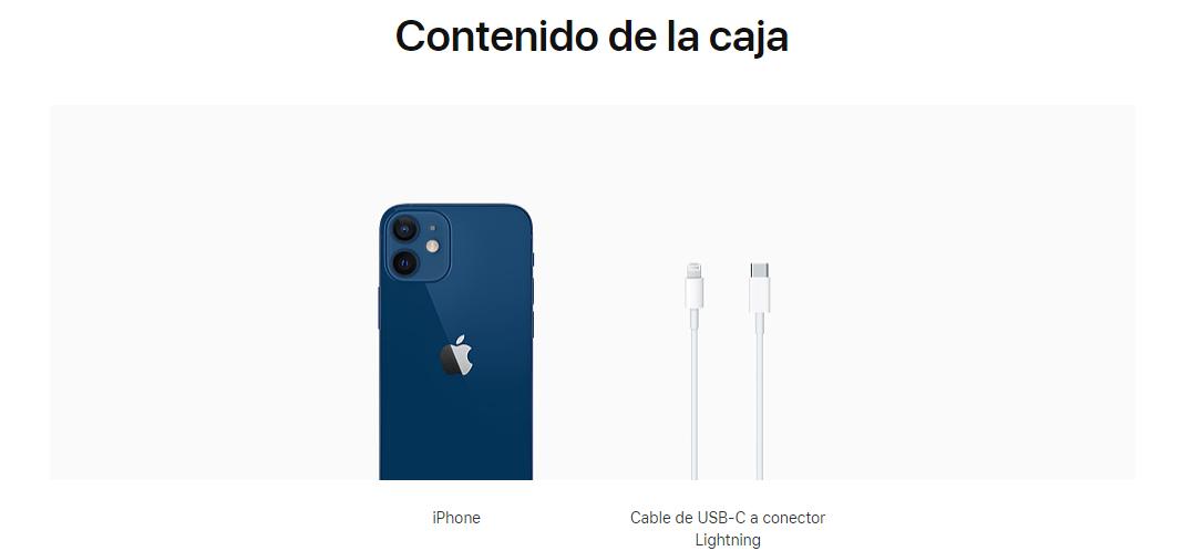 contenido caja iphone 12
