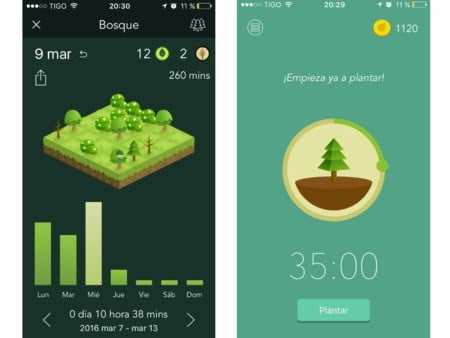 vida sostenible forest app